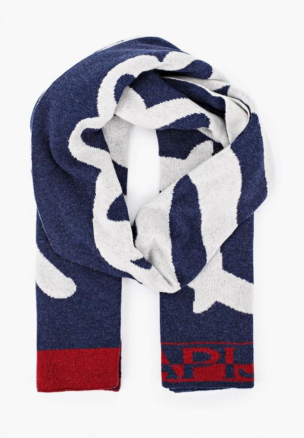 мужской шарф napapijri, синий