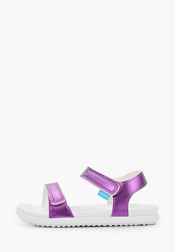 сандалии native для девочки, фиолетовые