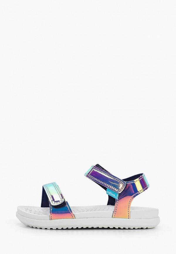 сандалии native для девочки, разноцветные