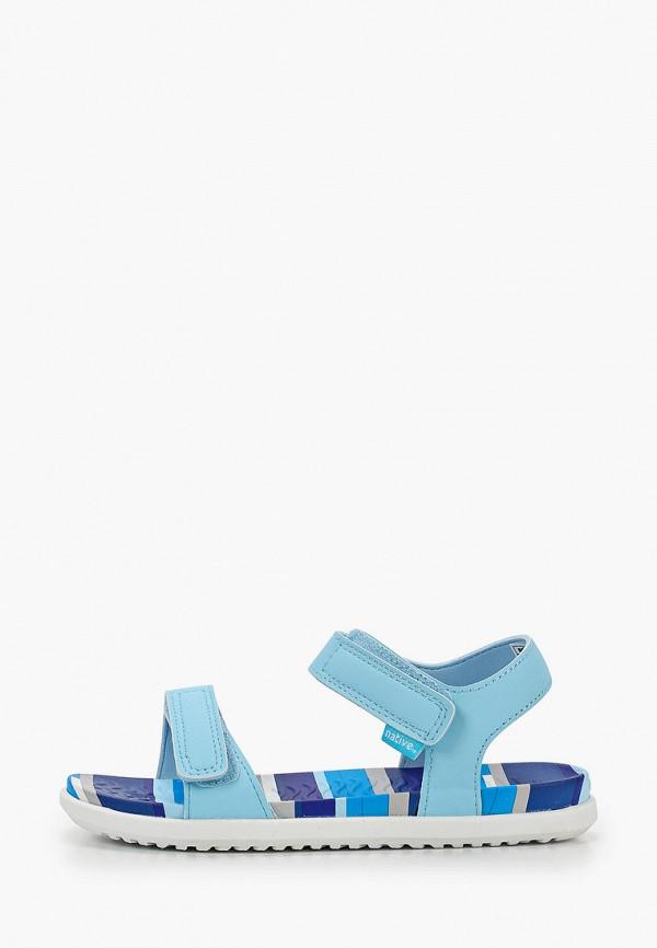 сандалии native для девочки, голубые