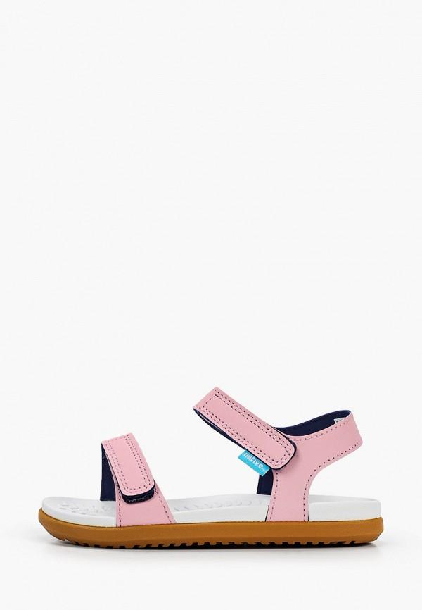 сандалии native для девочки, розовые