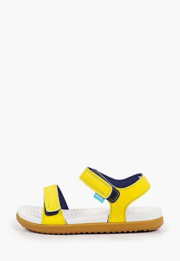 сандалии native для девочки, желтые