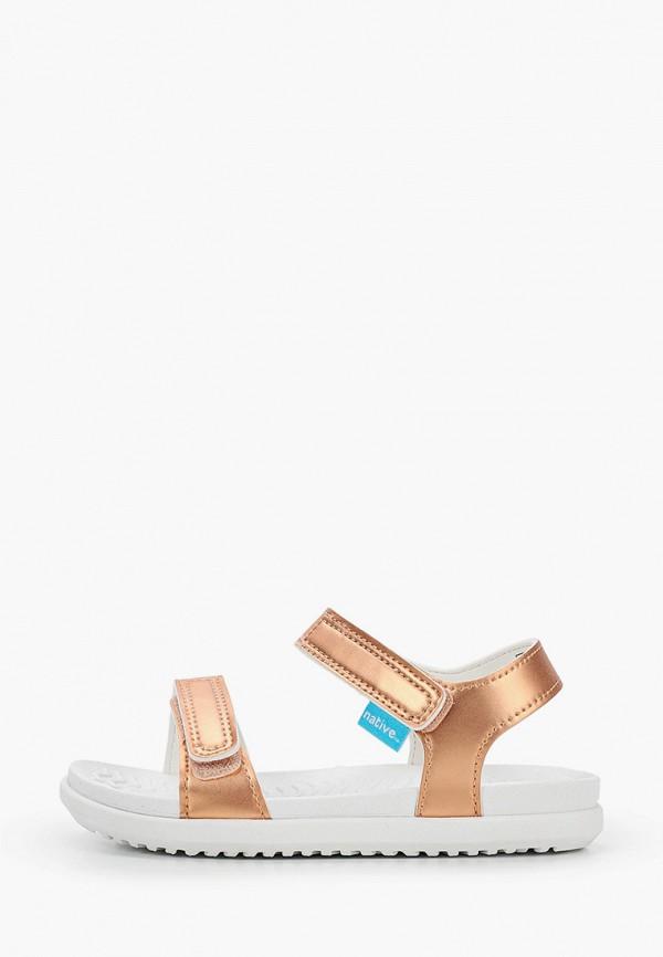сандалии native для девочки, золотые