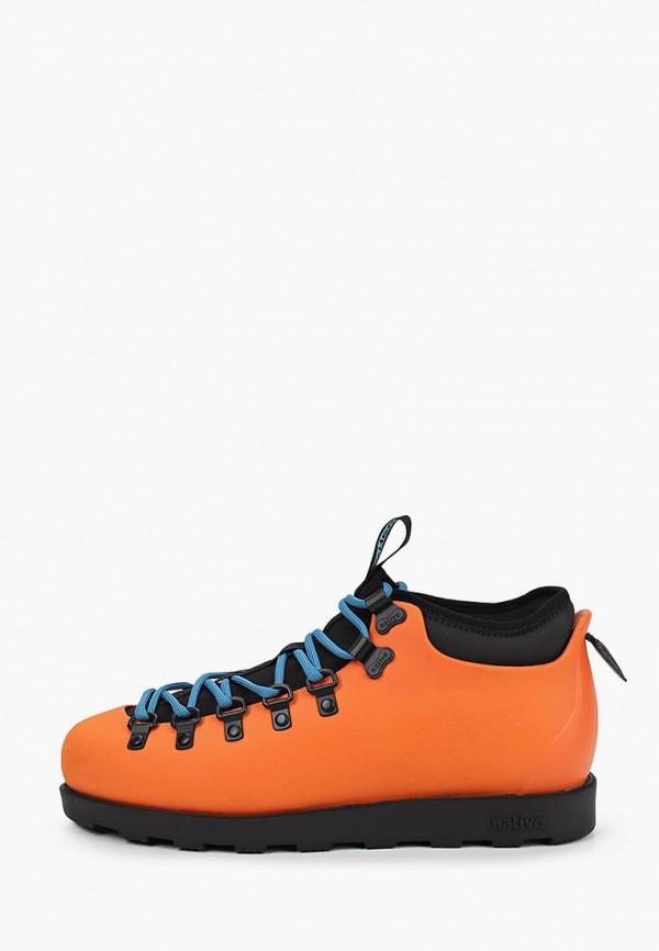 женские ботинки native, оранжевые