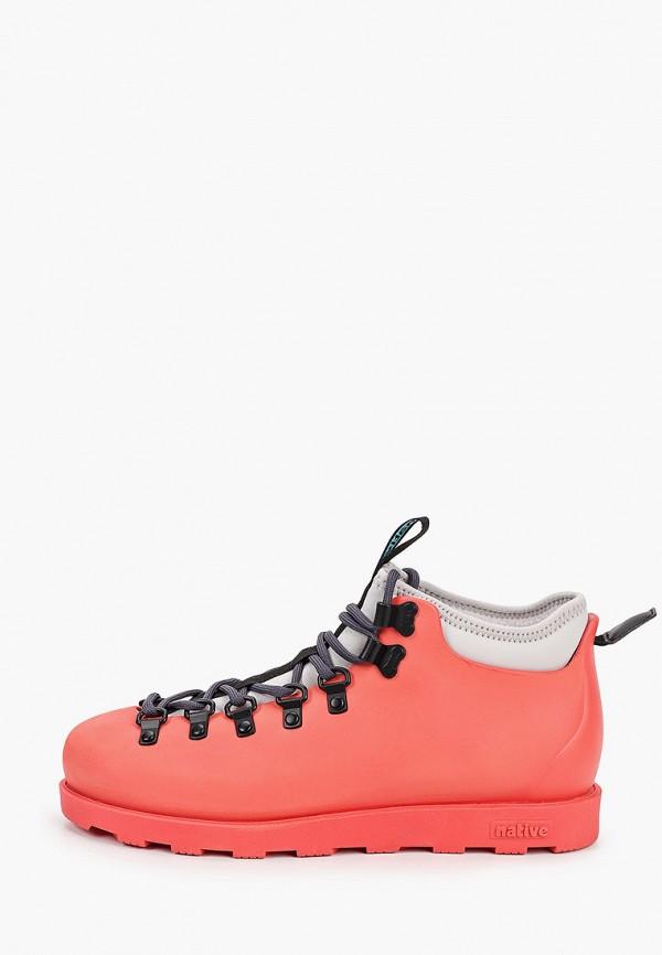 женские ботинки native, розовые