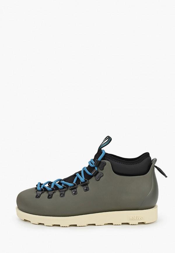 женские ботинки native, хаки