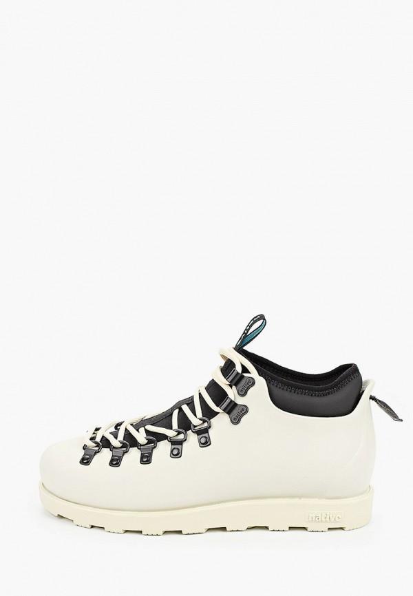 женские ботинки native, бежевые