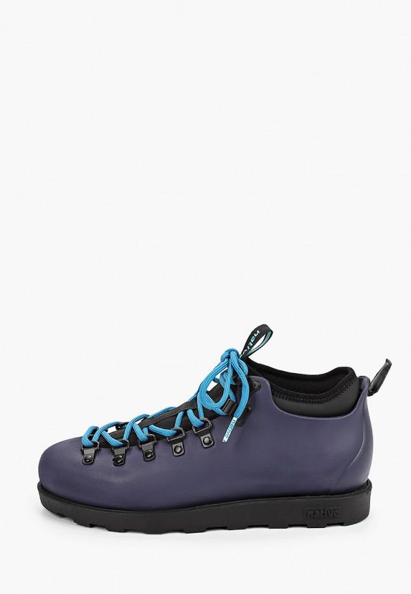 женские ботинки native, синие