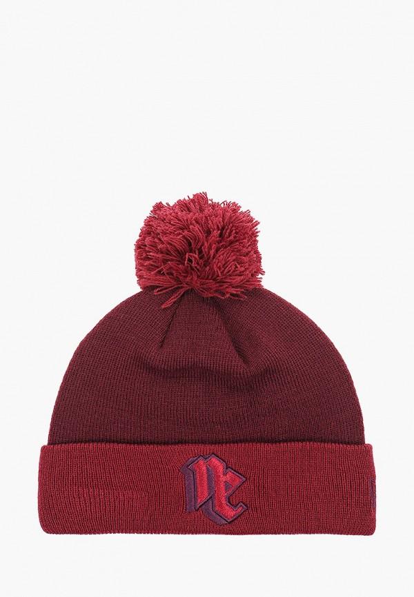 шапка new era для девочки, бордовая