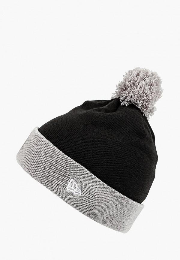 мужская шапка new era, черная