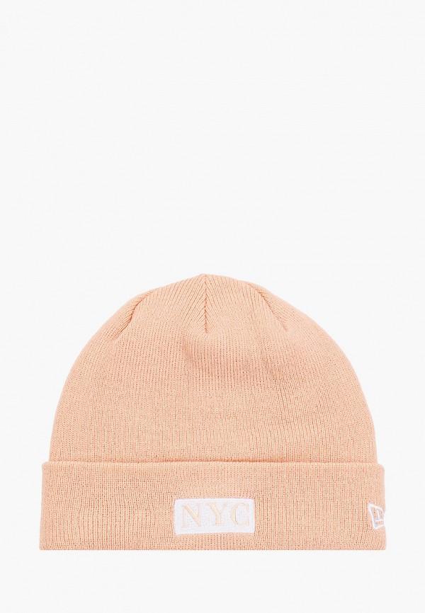 мужская шапка new era, розовая