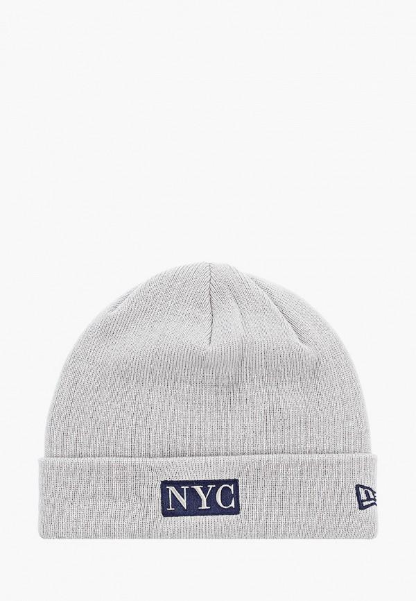мужская шапка new era, серая