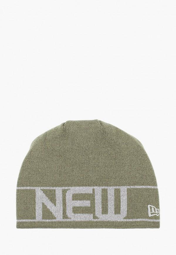 мужская шапка new era, зеленая