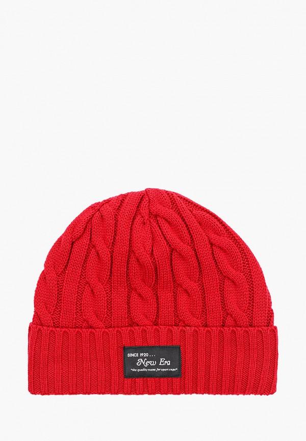мужская шапка new era, красная