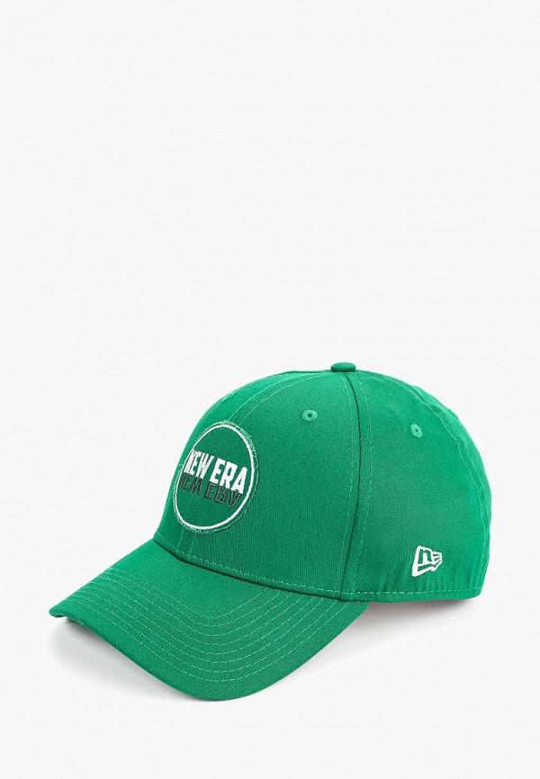 женская бейсболка new era, зеленая