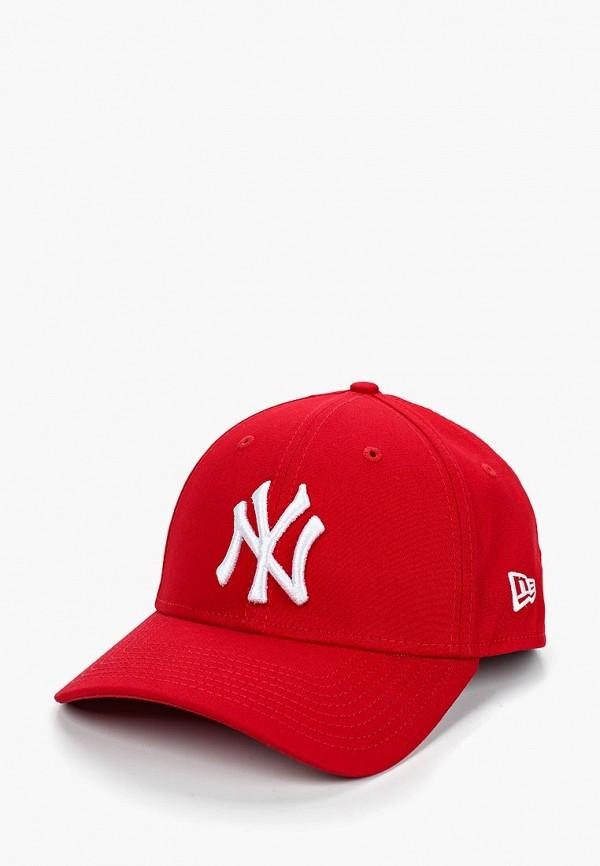 женская бейсболка new era, красная