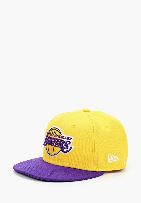 женская бейсболка new era, желтая