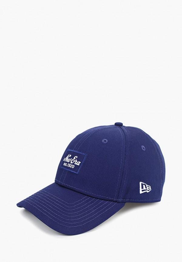 женская бейсболка new era, синяя