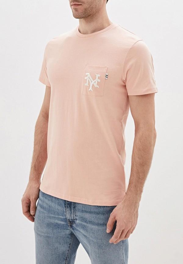 мужская спортивные футболка new era, розовая