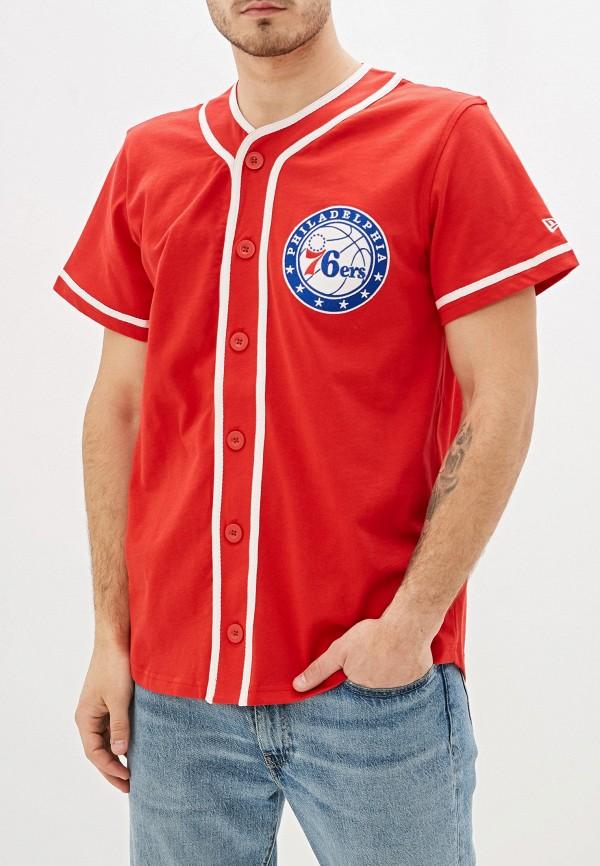мужская спортивные футболка new era, красная