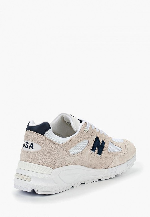 Фото 2 - мужские кроссовки New Balance бежевого цвета