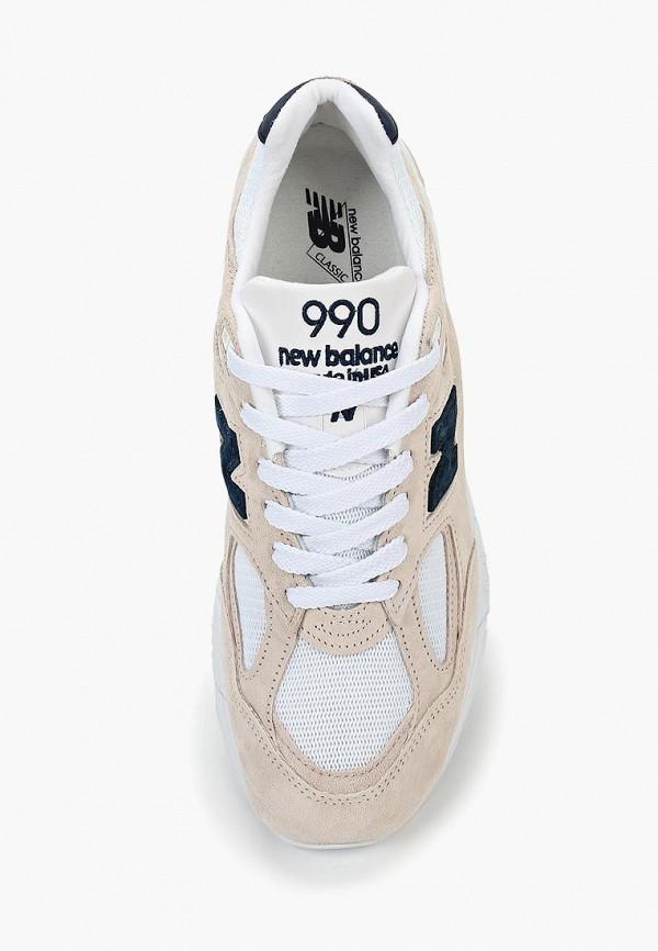 Фото 4 - мужские кроссовки New Balance бежевого цвета