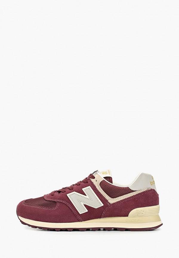 мужские кроссовки new balance, бордовые