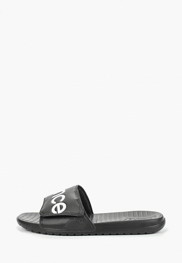 Купить Сланцы New Balance черного цвета