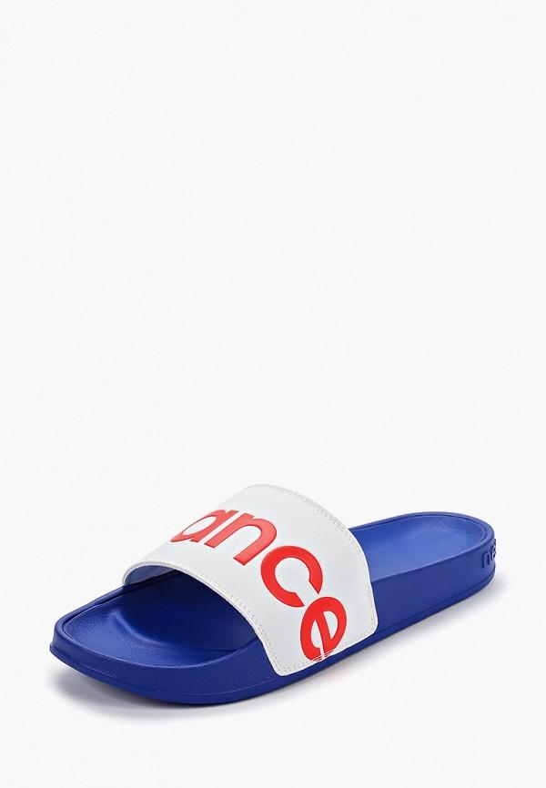 Фото 2 - Сланцы New Balance синего цвета