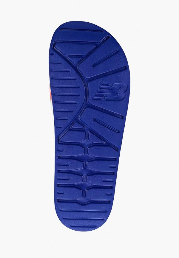 Фото 5 - Сланцы New Balance синего цвета
