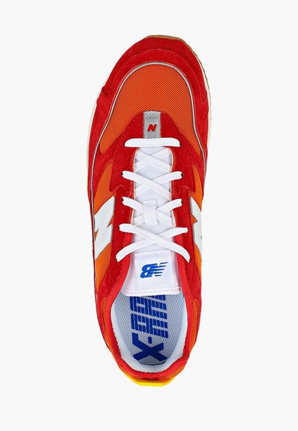 Фото 4 - мужские кроссовки New Balance красного цвета