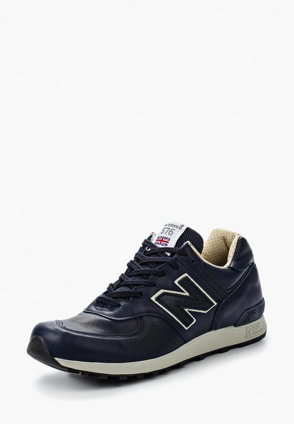 Купить Кроссовки New Balance, M576 (UK) LEATHER PACK, ne007amgiy52, синий, Осень-зима 2018/2019