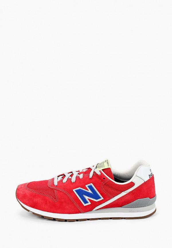 мужские низкие кроссовки new balance, красные