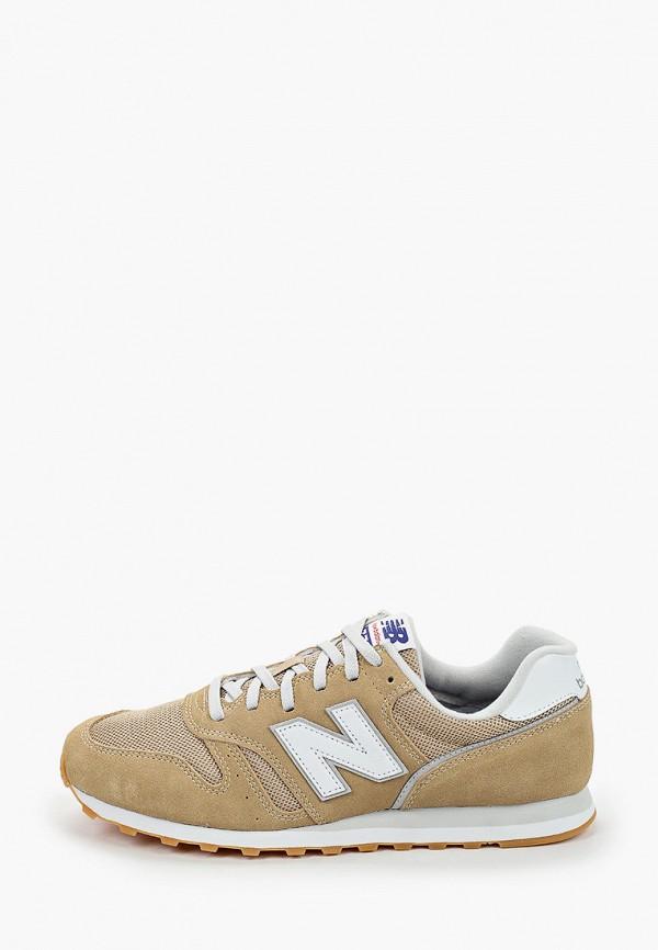 мужские низкие кроссовки new balance, бежевые