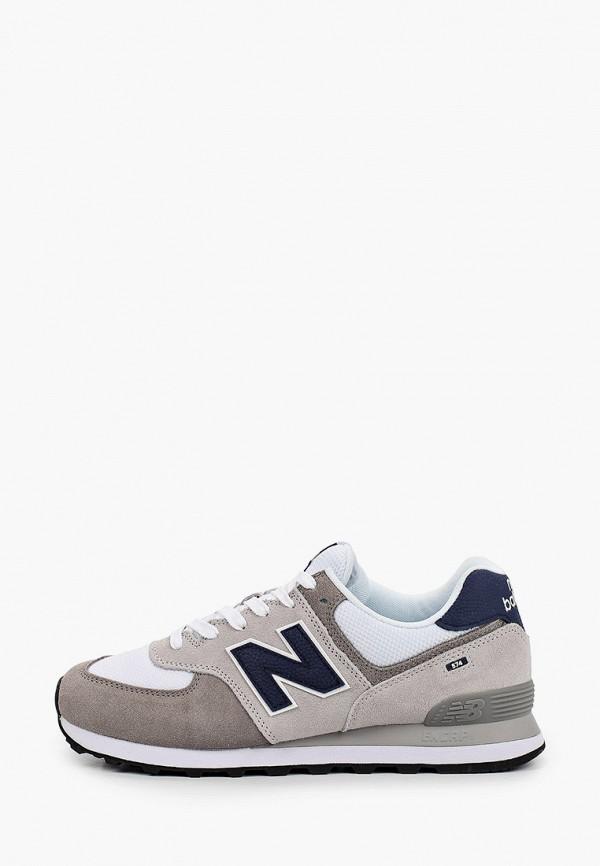 мужские низкие кроссовки new balance, серые