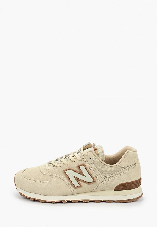 мужские кроссовки new balance, бежевые