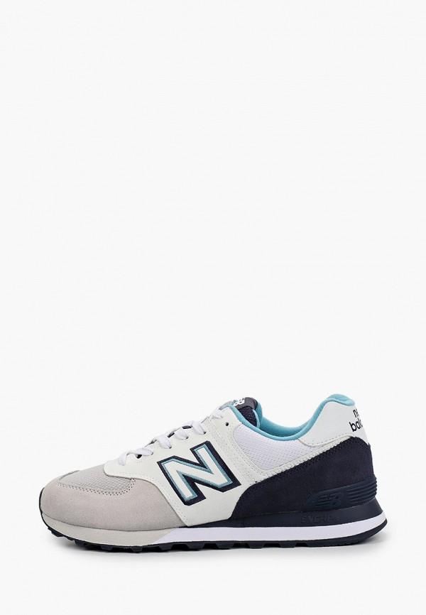мужские низкие кроссовки new balance, белые