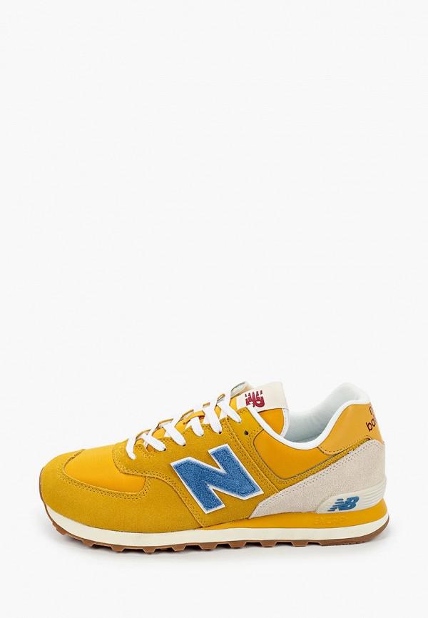 мужские кроссовки new balance, желтые