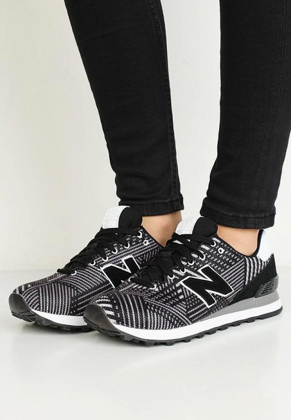 Фото 5 - женские кроссовки New Balance черного цвета