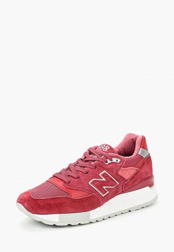 женские низкие кроссовки new balance, красные