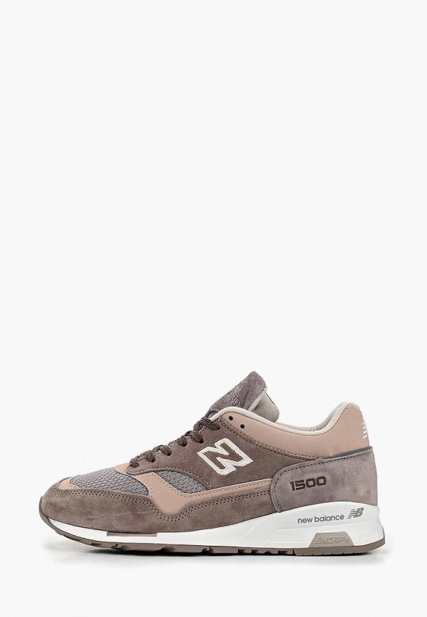 женские кроссовки new balance, коричневые