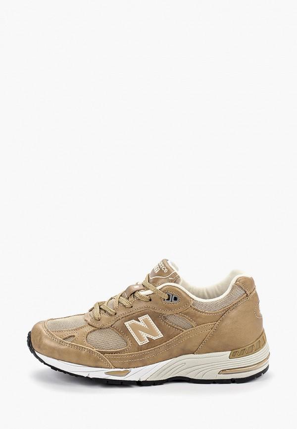женские кроссовки new balance, золотые