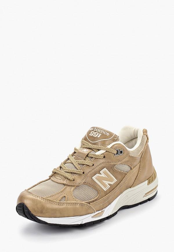 Фото 2 - женские кроссовки New Balance золотого цвета
