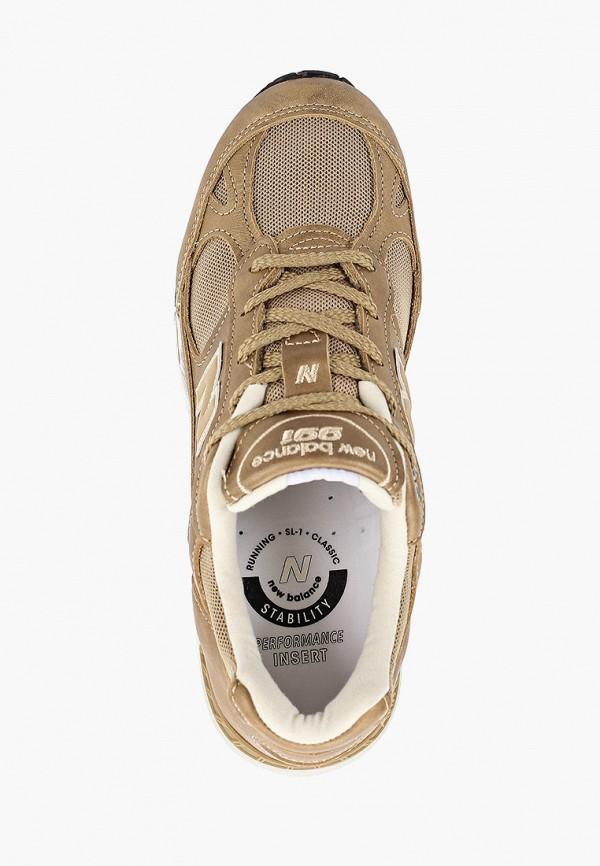 Фото 4 - женские кроссовки New Balance золотого цвета