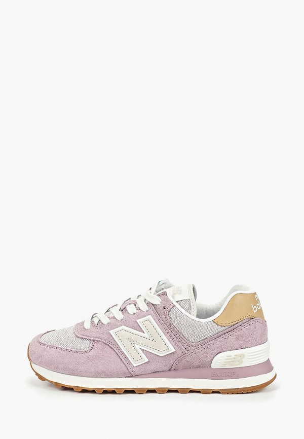 женские кроссовки new balance, фиолетовые