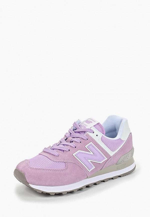 Фото 2 - женские кроссовки New Balance фиолетового цвета