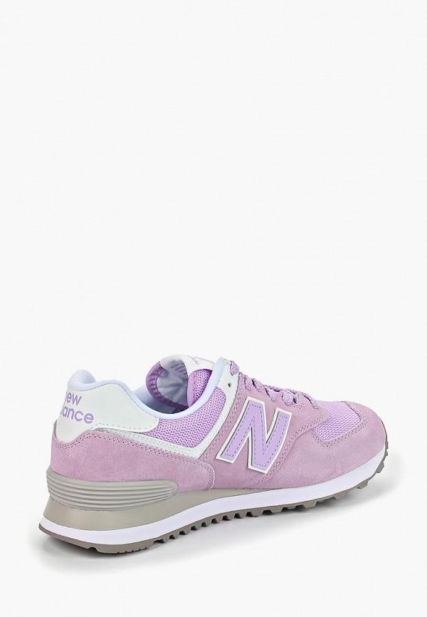 Фото 3 - женские кроссовки New Balance фиолетового цвета