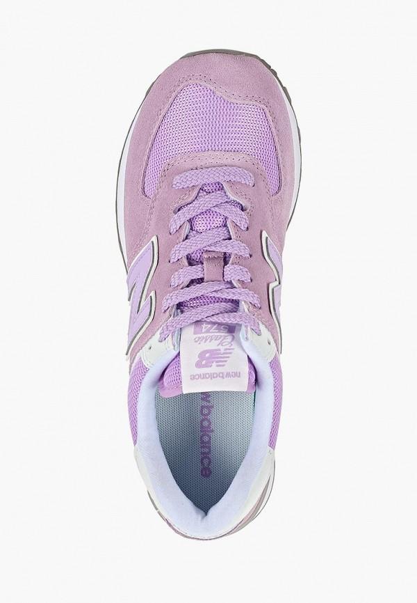 Фото 4 - женские кроссовки New Balance фиолетового цвета