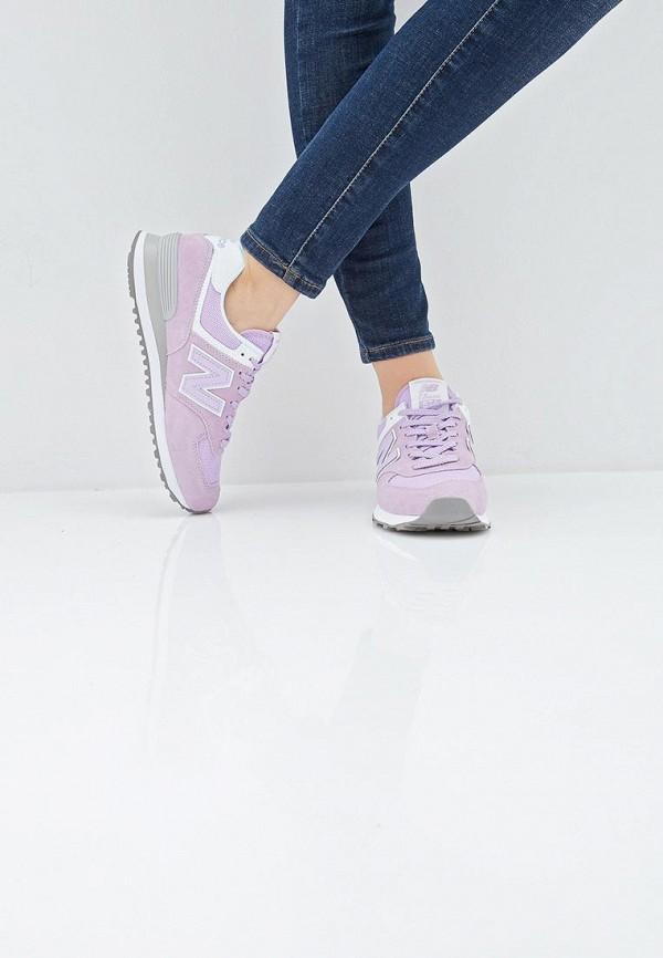 Фото 6 - женские кроссовки New Balance фиолетового цвета