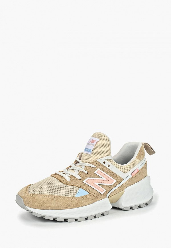 Фото 2 - женские кроссовки New Balance бежевого цвета